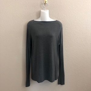 Vince Gray Boatneck Long Sleeve Shirt Top